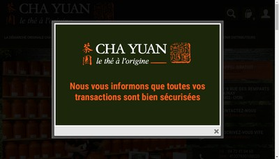 Site internet de The Cha Yuan International