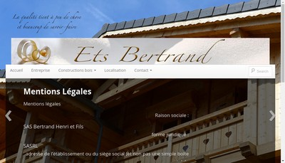 Site internet de Bertrand Henri & Fils