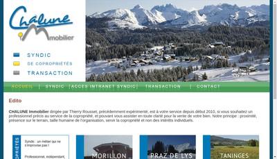 Site internet de Chalune Immobilier