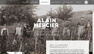 Site internet de SARL Champagne Alain Mercier et Fils