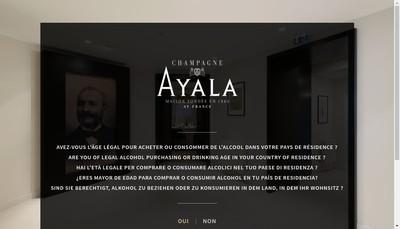 Site internet de Champagne Ayala - Champagne Montvillers