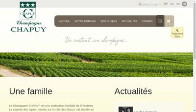 Site internet de Champagne Chapuy SAS