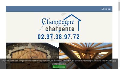 Site internet de Champagne Charpente