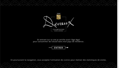 Site internet de La Societe des Vignerons du Champagne Devaux