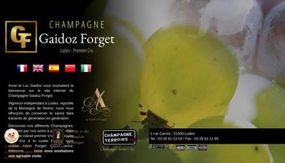 Site internet de Champagne Gaidoz Forget