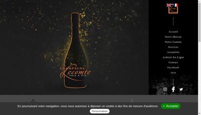 Site internet de Champagne Lecomte Pere et Fils