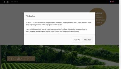 Site internet de Champagne Marquis de Pomereuil