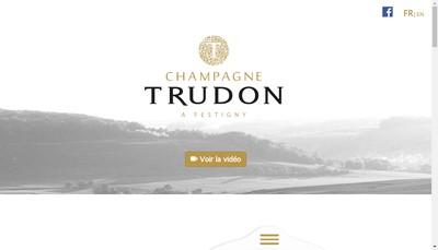 Site internet de Champagne Trudon