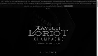Site internet de Champagne Xavier Loriot