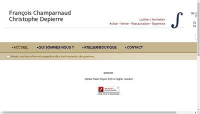 Site internet de Depierre Champarnaud Lutherie