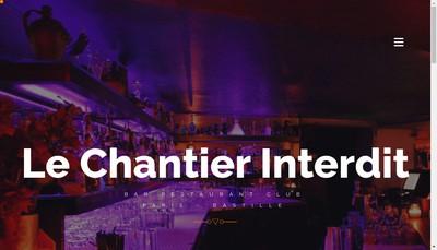 Site internet de Chantier Interdit