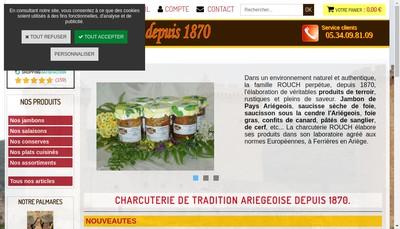 Site internet de Charcuterie Rouch