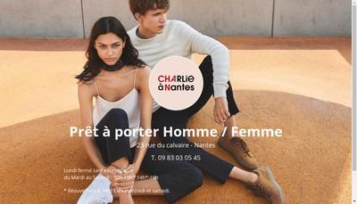 Site internet de Charlie a Nantes