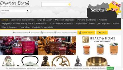 Site internet de Charlotte Boutik
