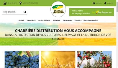 Site internet de Charriere Distribution