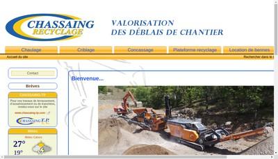 Site internet de Chassaing Recyclage