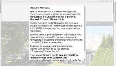 Site internet de Le Chateau des Iles
