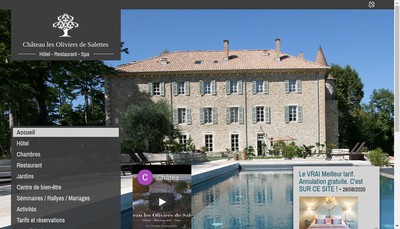Site internet de Chateau les Oliviers de Salettes