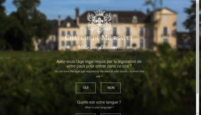 Site internet de Societe de Gestion du Domaine du Chateau de Meursault