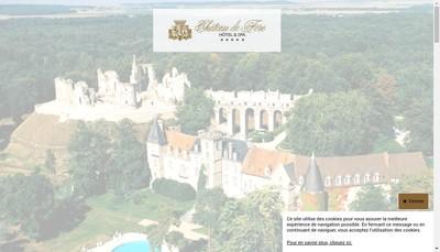 Site internet de Hostellerie du Chateau de Fere