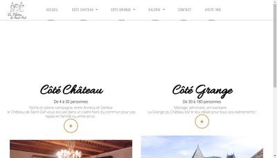 Site internet de La Table d'Hotes du Chateau