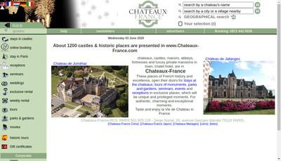 Site internet de Chateaux Corporate