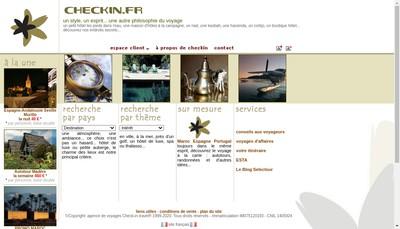 Site internet de Check-In Travel