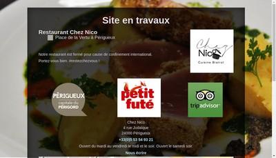 Site internet de Chez Nico