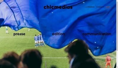 Site internet de Chic Medias