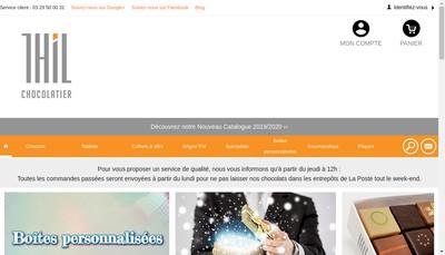 Site internet de Thil Chocolatier