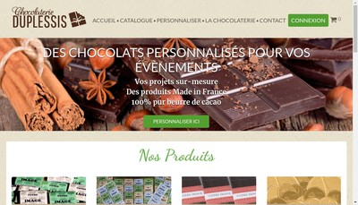 Site internet de Chocolaterie du Plessis