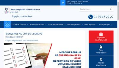 Site internet de Chp de l'Europe le Port Marly Vivalto Sante
