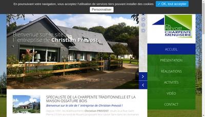 Site internet de Etablissements Christian Prevost