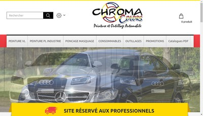 Site internet de Chroma Colors