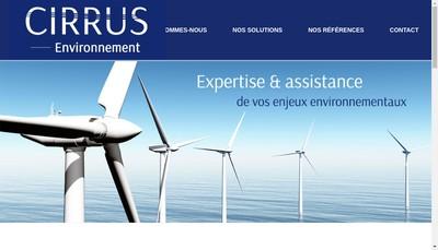 Site internet de Cirrus-Environnement