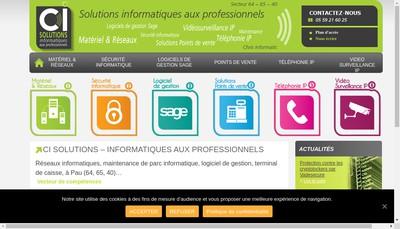 Site internet de Ci Solutions