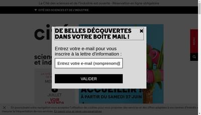 Site internet de Cite Villette