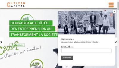 Site internet de Citizen Capital Partenaires