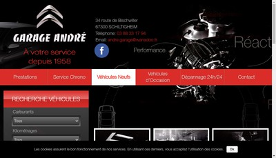 Site internet de Garage Andre