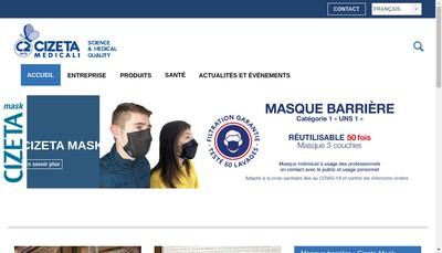 Site internet de Cizeta Medical France