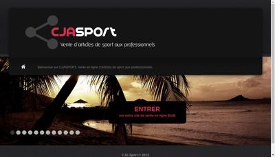 Site internet de Cja Sport