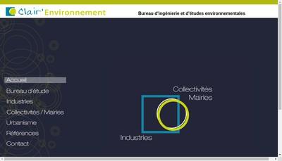 Site internet de Clair' Environnement