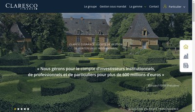 Site internet de Claresco Bourse