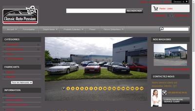 Site internet de Classic Auto Passion