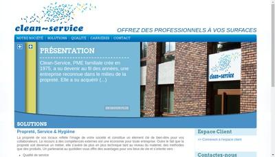 Site internet de Clean Service - Wash Moquette
