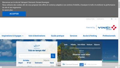 Site internet de Societe d'Exploitation de l'Aeroport de Clermont-Ferrand Auvergne