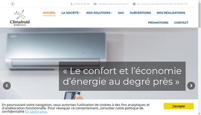 Site internet de Climafroid Service