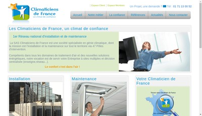 Site internet de Climaticiens de France