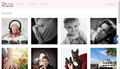 Site internet de Clin d'Oeil Photo