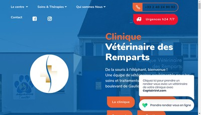 Site internet de Cabinet Veterinaire des Remparts